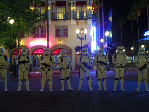 Stormtroopers guard the Disney's Hollywood Studios exit