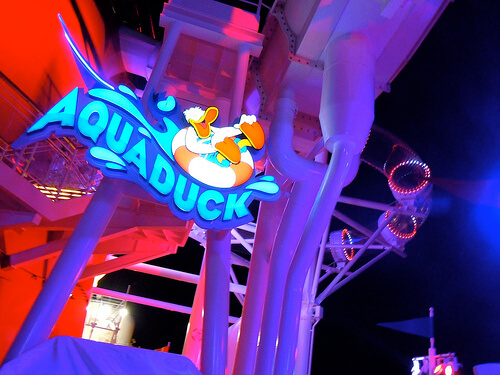 AquaDuck at night