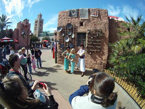 Aladdin, Jasmine, and a Jasmine fan in Morocco