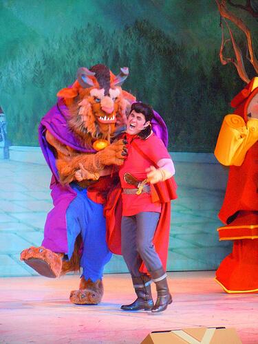 Beast and Gaston
