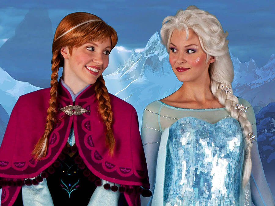 anna and elsa disney world character meet greet