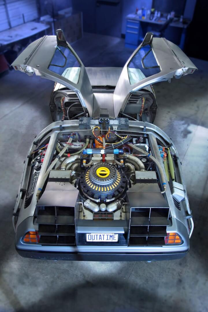 The Original Delorean Time Machine From Quot Back To The