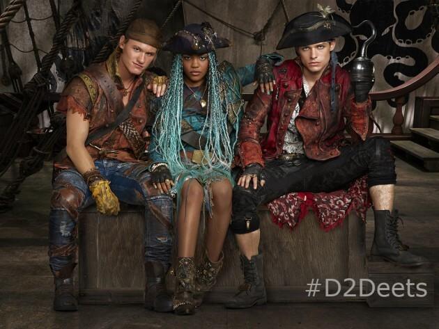 "DESCENDANTS 2 - Disney Channel's ""Descendants 2"" stars Dylan Playfair as Gil, China Anne McClain as Uma and Thomas Doherty stars as Harry. (Disney Channel/Bob D'Amico)"