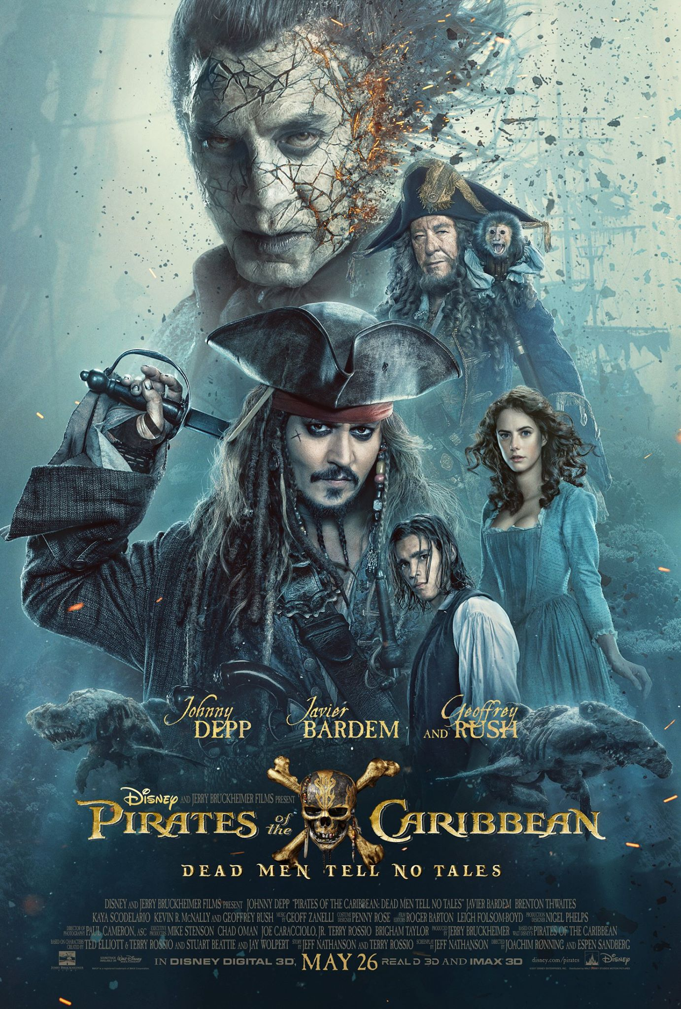 Image result for pirates of the caribbean dead men tell no tales movie poster free use