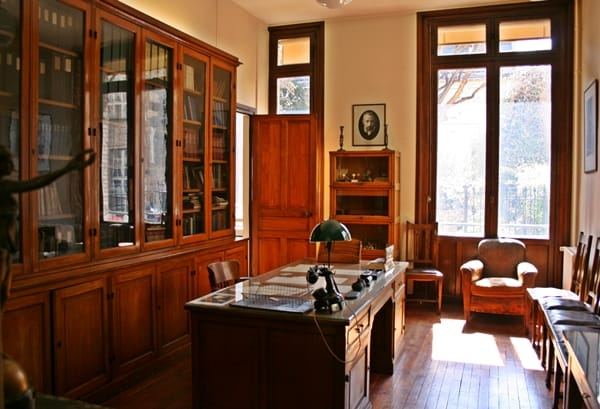 Inside Marie Curie's Office in the Pierre et Marie Curie Museum in Paris, France