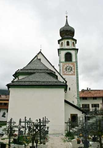 San Cassiano Church near Rosa Alpina