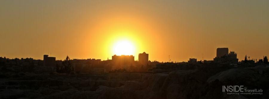 Beautiful sunset in Amman