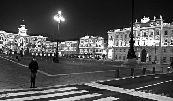 Trieste at night person