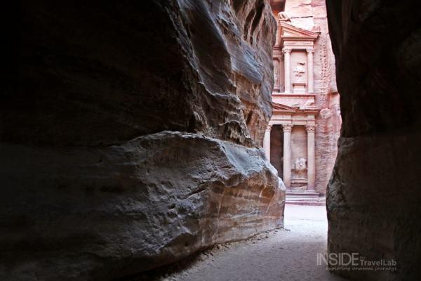 Approaching Petra, Jordan