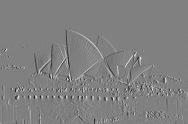 The Sydney Opera House At Night Embossed