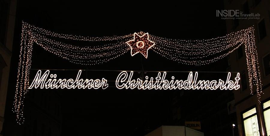Munich Christmas Market Sign