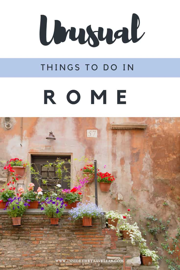 Beautiful and unusual things to do in Rome. A handy guide on travel in Rome, spotting off the beaten track places to eat and fascinating unique things to do. Also includes places to eat in Rome and a luxury place to stay in Rome. #Rome #Italy #TravelRome