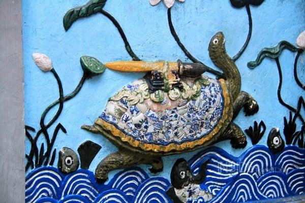 The turtle in Hoan Kiem Lake