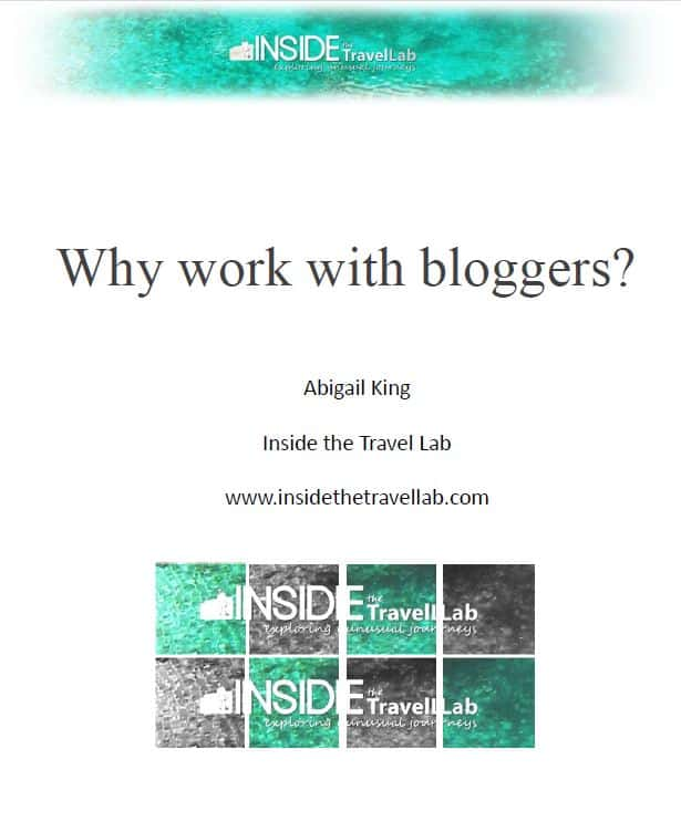 Why work with bloggers cover