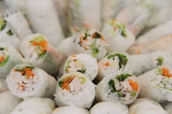Vietnamese spring rolls on Halong Bay