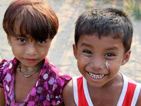 Children in Burma or Myanmar