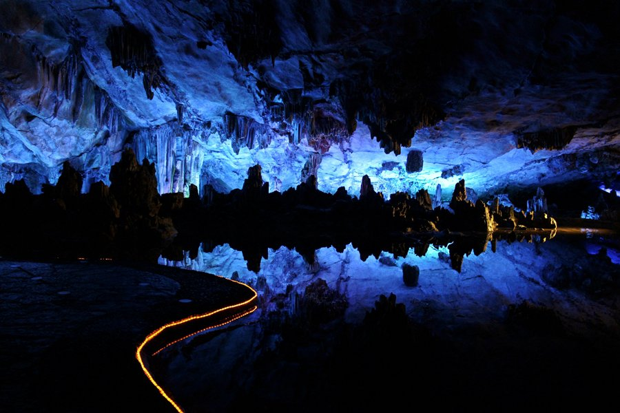 Reed Flute Caves in Guilin China