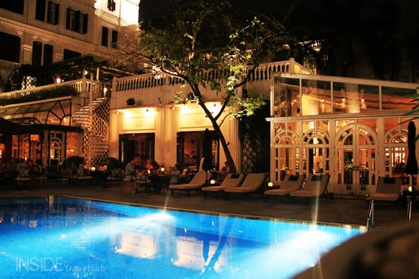 Bamboo bar pool