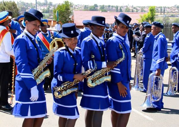 Blue band in Soweto