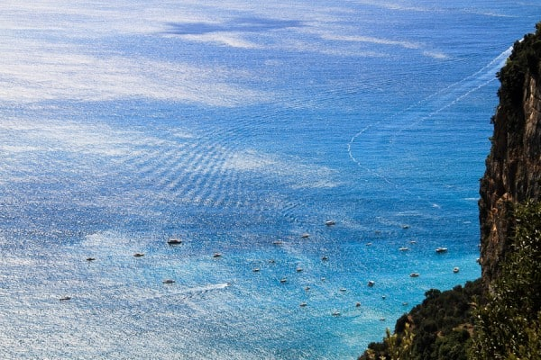 Looking towards THE sirens on the Amalfi coast while walking through Italy from @insidetravellab