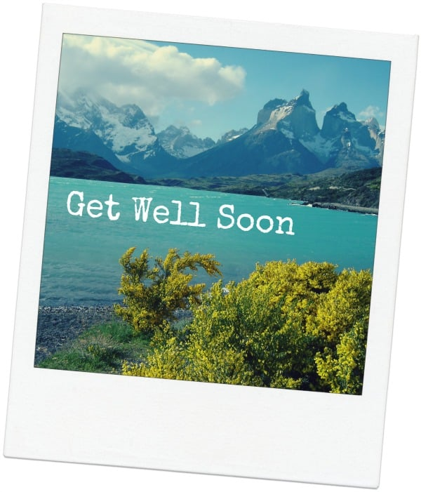 Get well soon polaroid from Patagonia