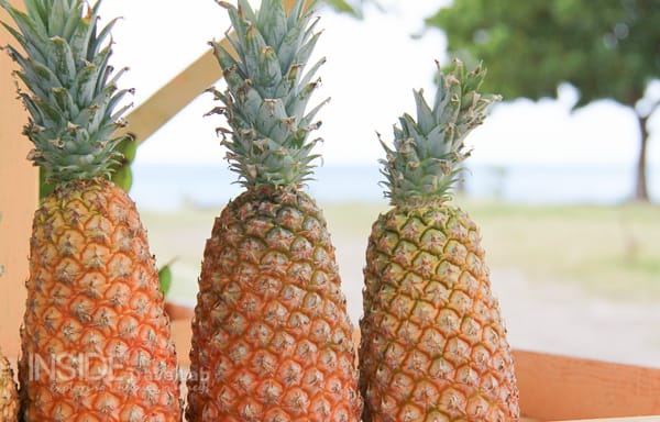 OK, so pineapples aren't green but they are fun to look at!