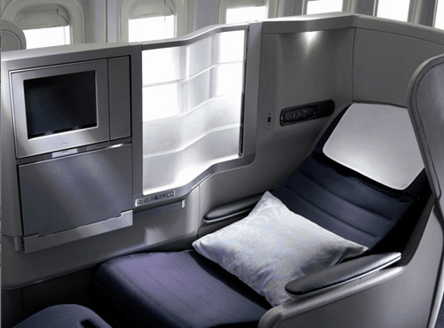 British Airways Business Class Club World Seat