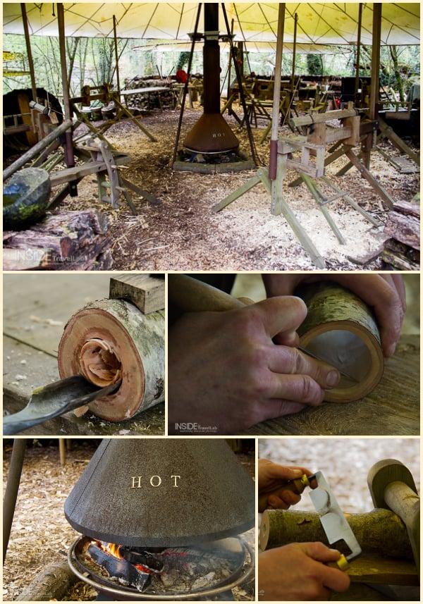 Luxury Camping woodcraft workshop