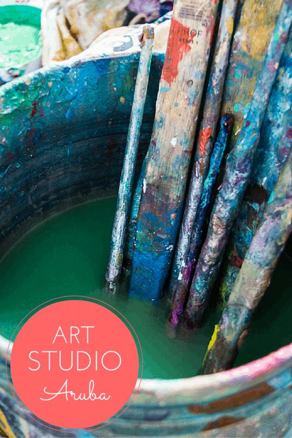 Inside the inspirational Elisa Lejuez's artist's studio in Aruba