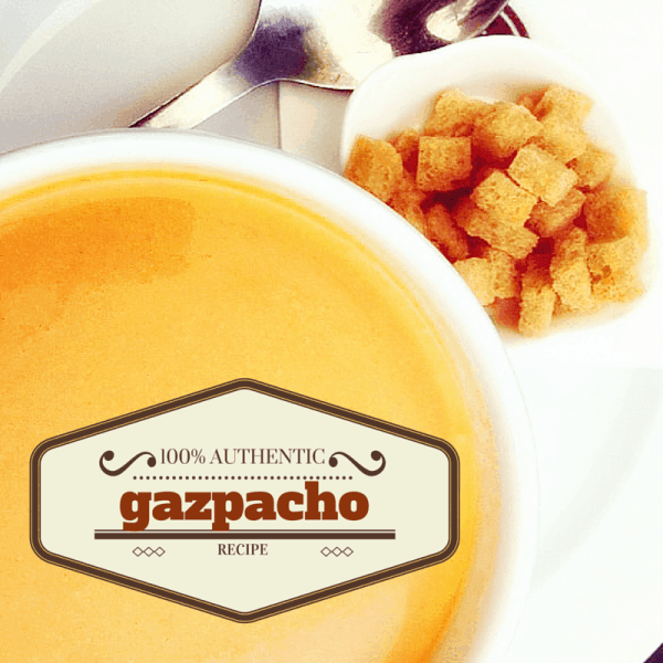 How to make a quick and easy gazpacho from Spain. The perfect gazpacho recipe.