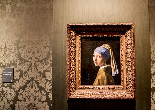 The Earring Girl - Girl with a Pearl Earring by Vermeer in The Hague