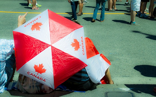Canada Day Umbrella in Vancouver via @insidetravellab