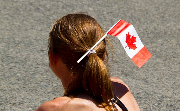 Girl with Canada Flag