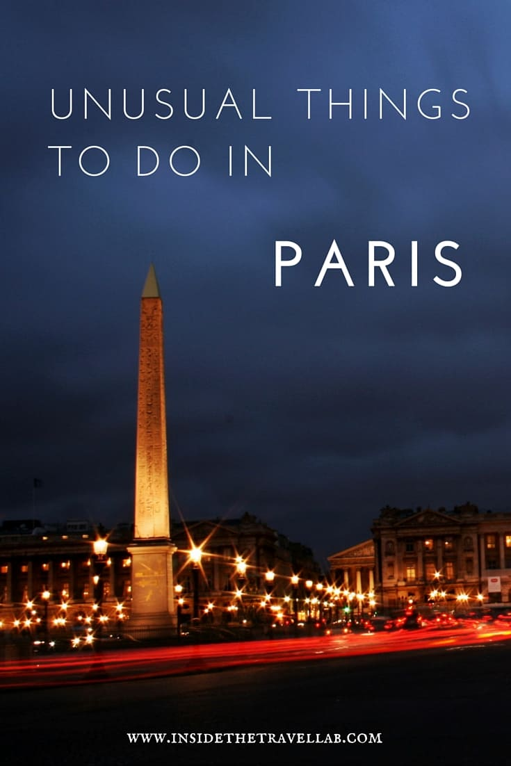 Unusual things to do in Paris from @insidetravellab