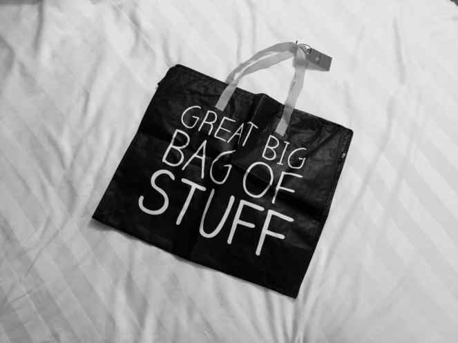 A fold-flat bag is useful for so many reasons. They're handy to carry about town, and if you lose your luggage and have to shop for more things, at least you already have a bag to put these things in to.