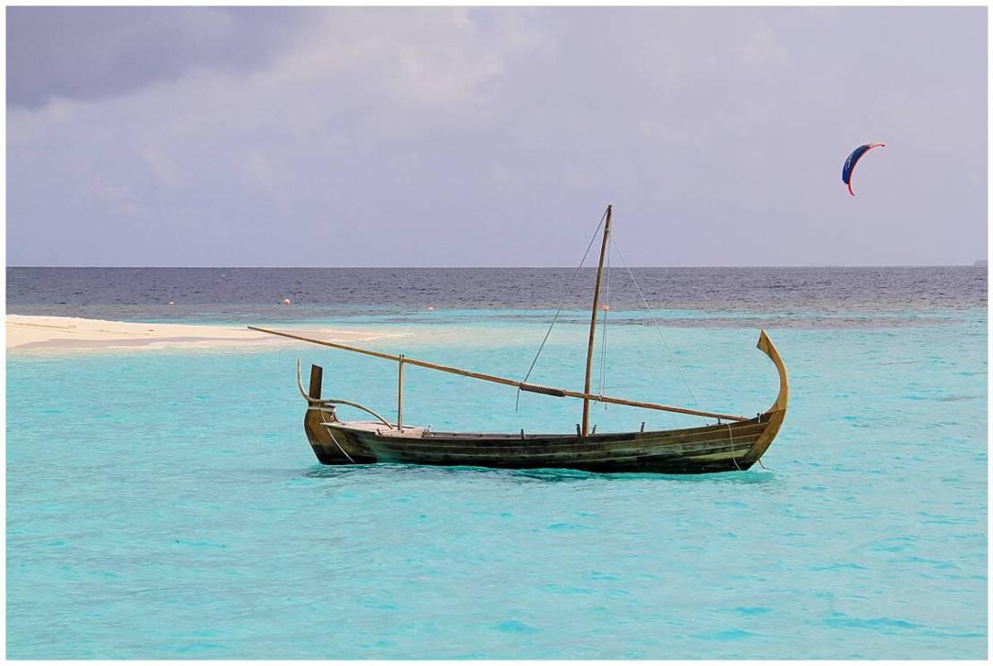 Beautiful boat in the Maldives