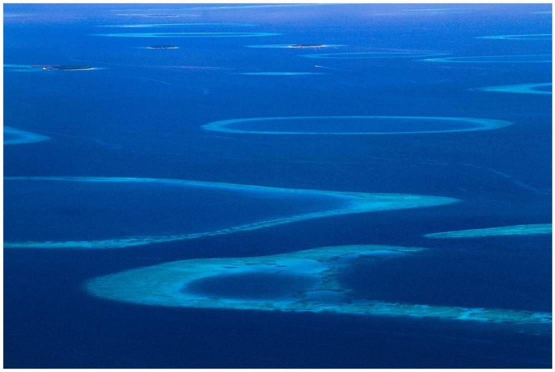 Indian ocean circles of the Maldives Islands