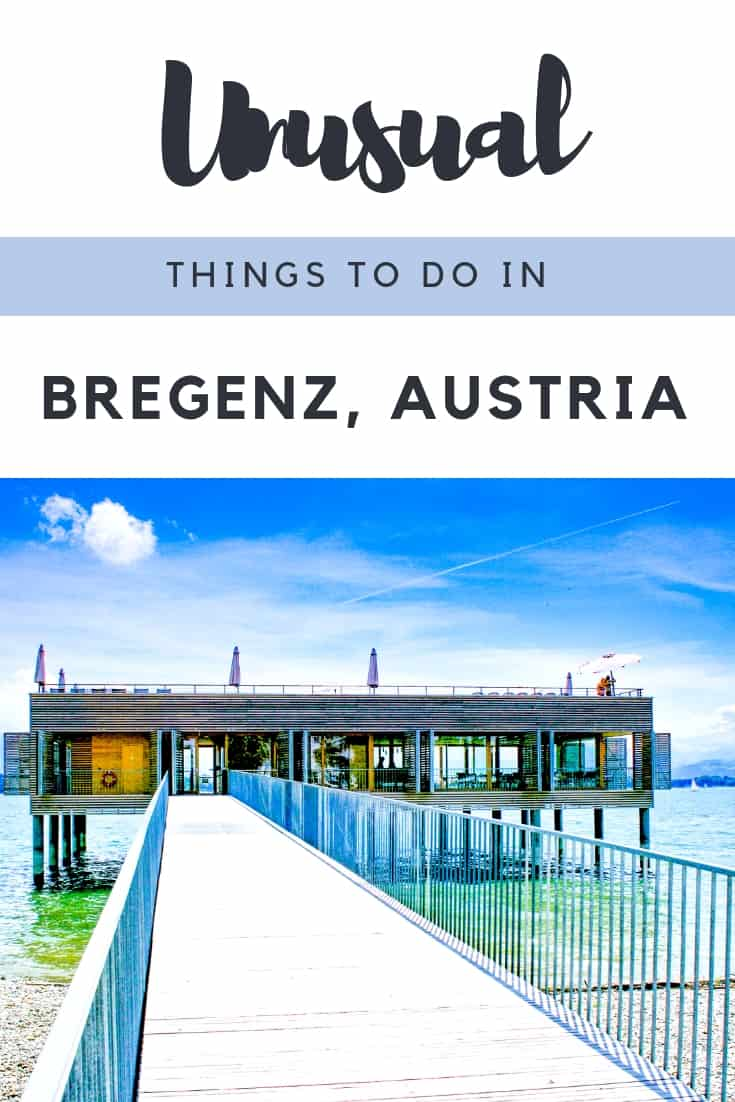 Things to do in Bregenz, Austria - This beautiful lakeside city in Bregenzerwald has plenty of things to do. Think of hiking or walking around the lake or into the mountains. Visiting art museums. Seeing the floating opera festival and film set of  James Bond. Here's your guide to  what to see in Bregenz, Austria. #Bregenz #Austria #Bregenzerwald #Opera #VisitVorarlberg