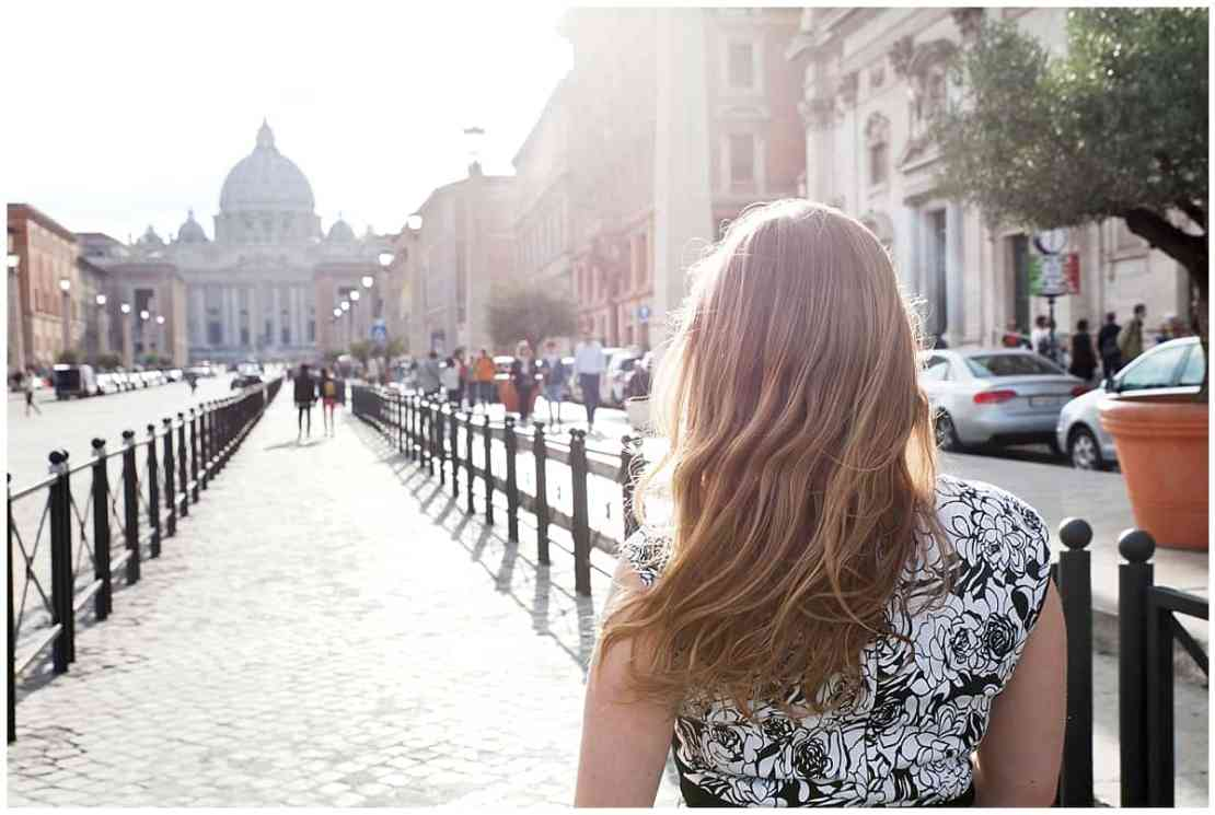 Abi walking through Rome via @insidetravellab