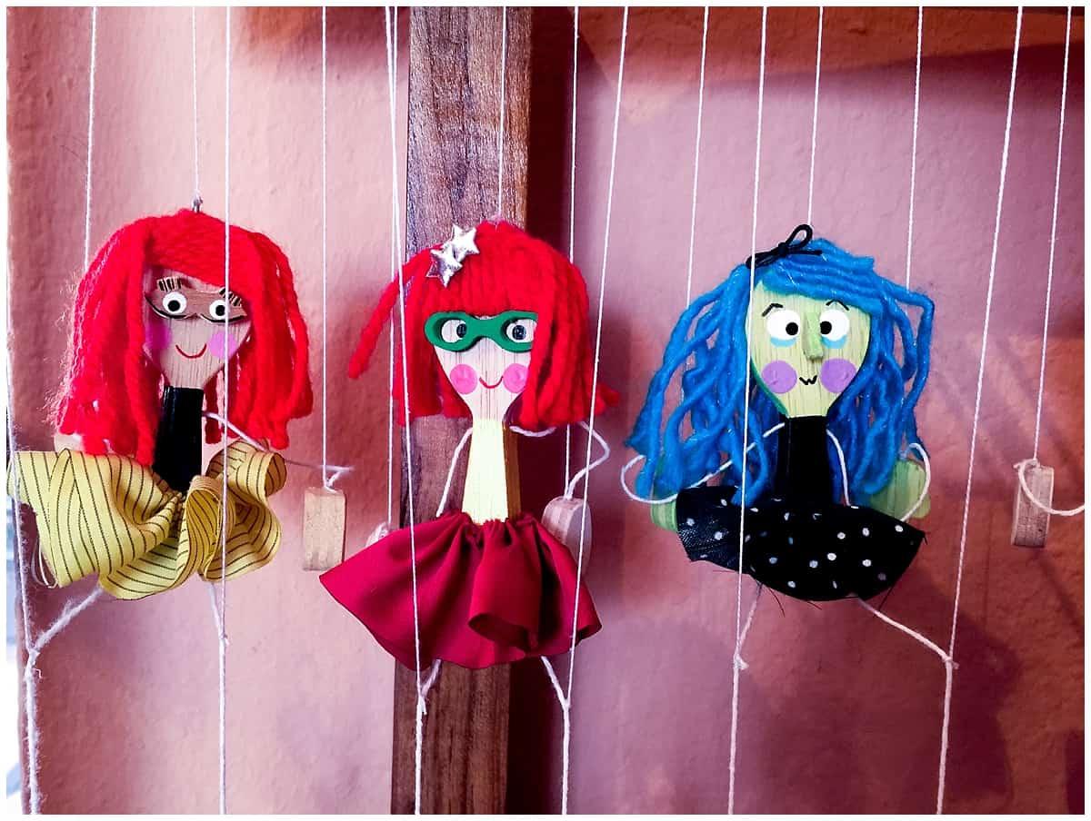 Bouncing dolls in Quito Ecuador