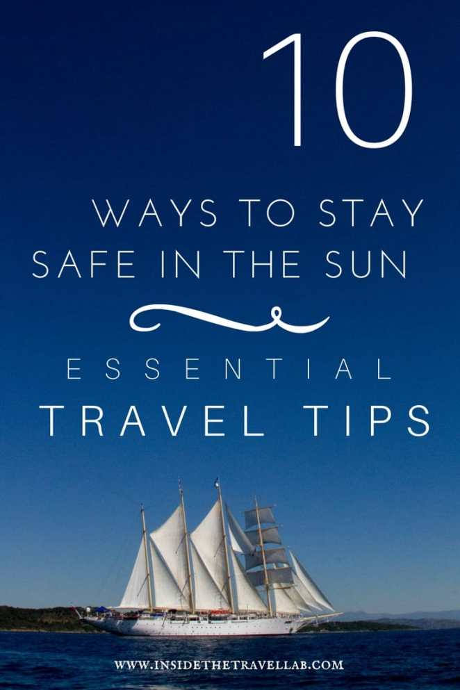 From the essential travel tips collection > how to stay safe in the sun including a revolutionary new sunburn treatment. From @insidetravellab