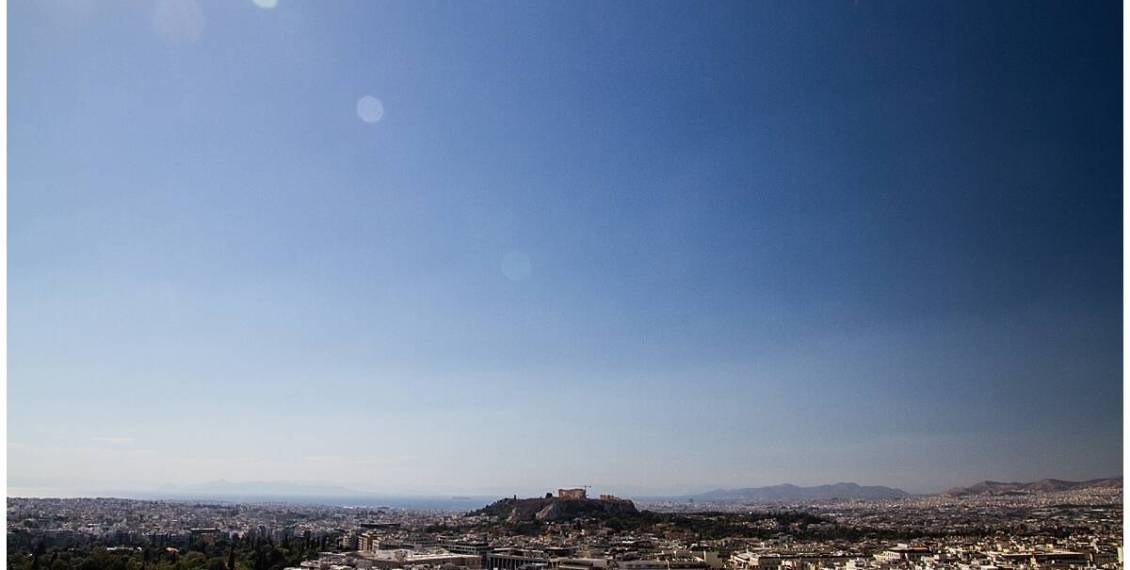 View of the Acropolis at St George Lycabettus