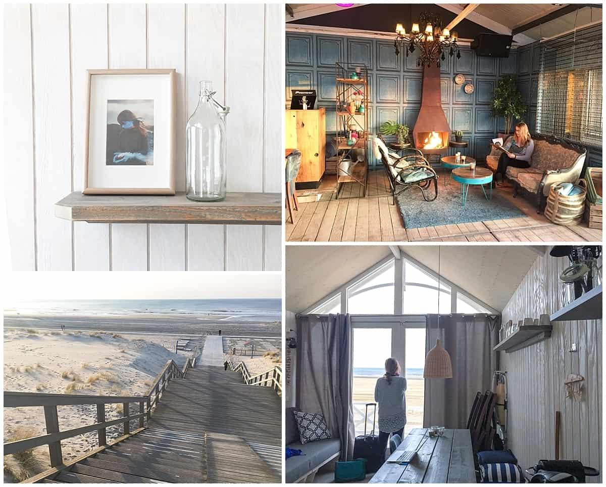 Luxury beach huts near Scheveningen at The Hague