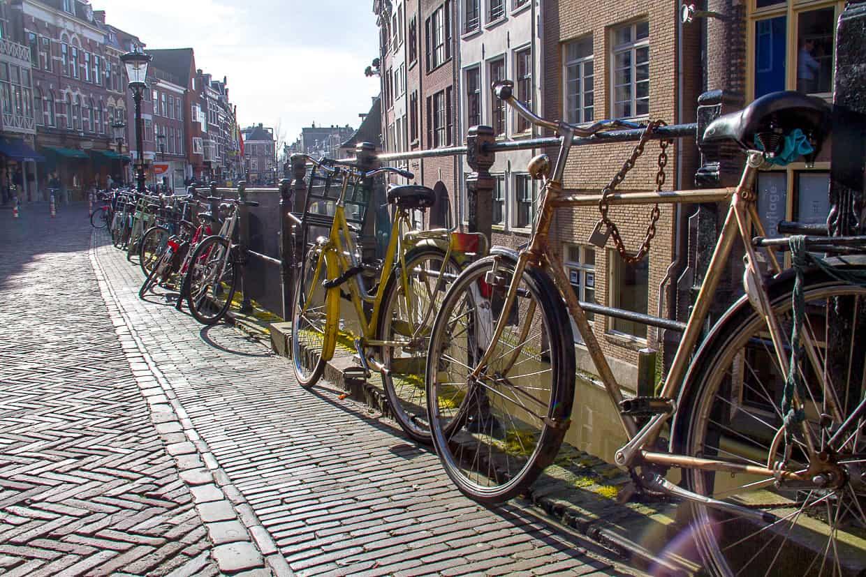Bicycles in Utrecht Holland