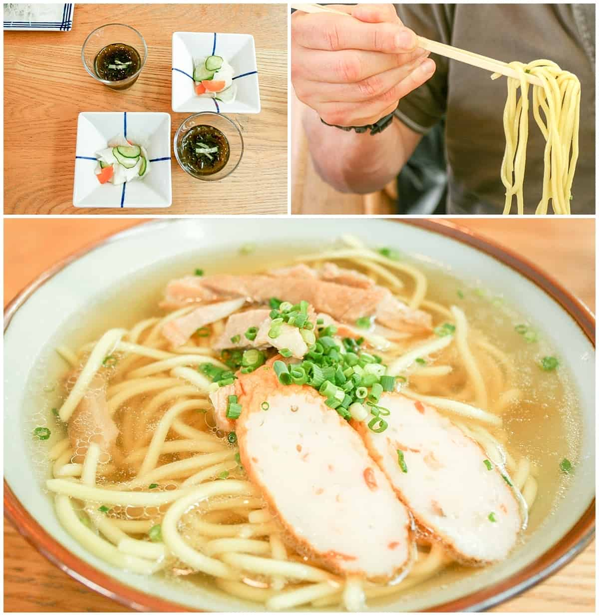 Traditional Okinawa Food - Soba noodles and Goya in Japan