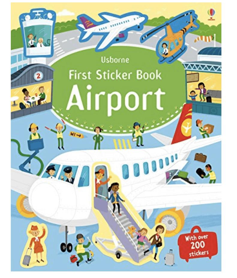 Airport Sticker Book Toddler Travel Toy