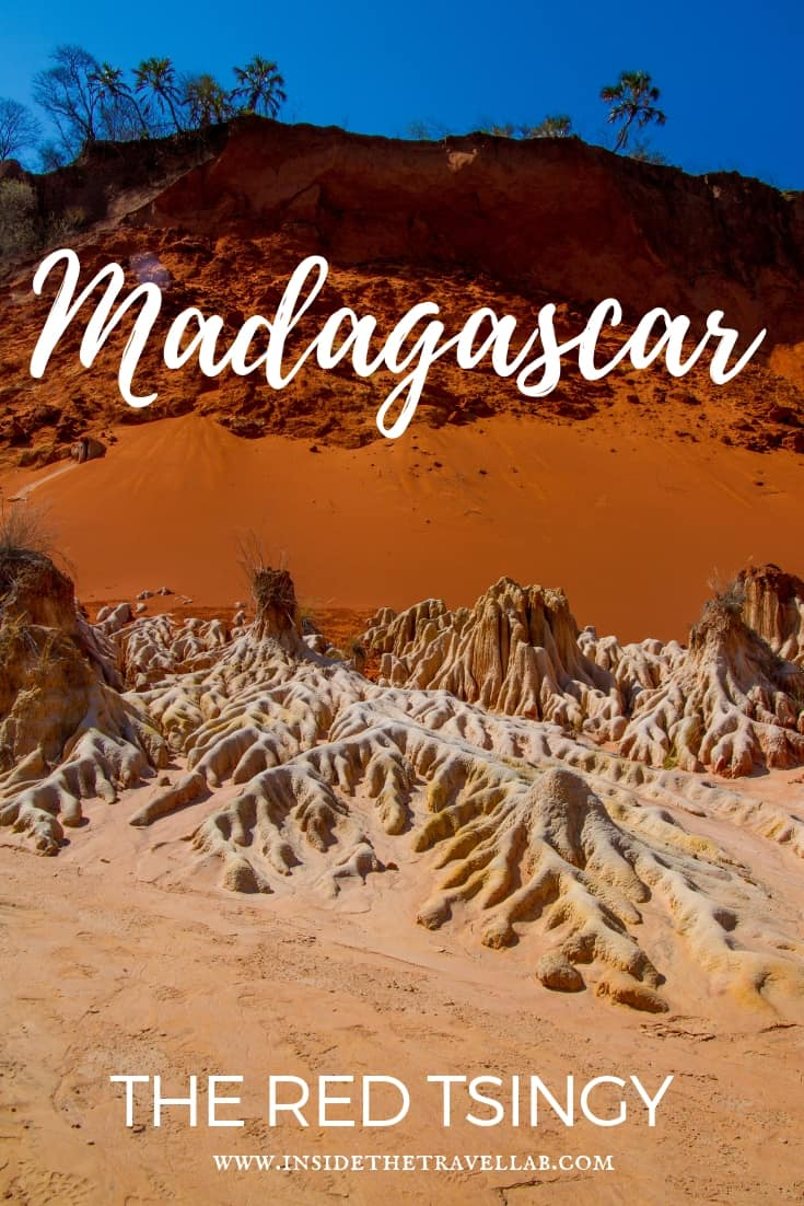 A guide on the Red Tsingy in Madagascar in Africa, including all the facts you'll need to know, such as how to visit the park. #Africa #Madagascar #Tsingy