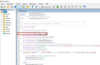 MetaTrader4 MACD anpassen