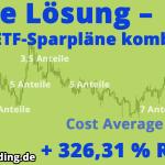 Cost Average 3.0 – Die Lösung – ETF-Sparpläne richtig kombinieren!