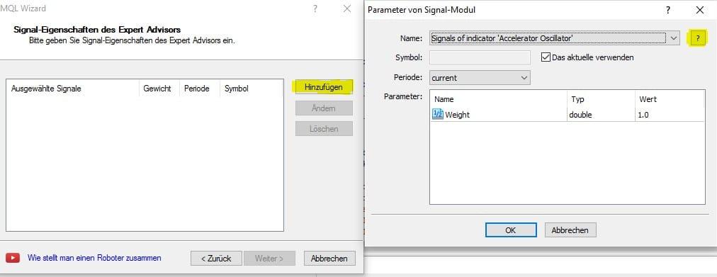 Indikatoren Metatrader 5 - MQL5 hinzufügen